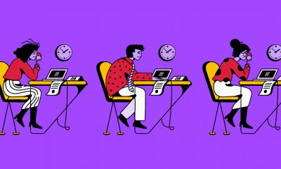 The lead image shows people sitting at desks looking miserable.