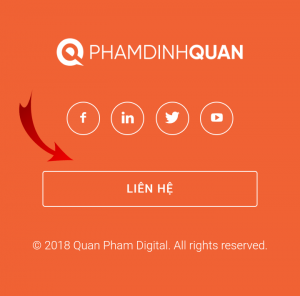Giao diện footer trên mobile