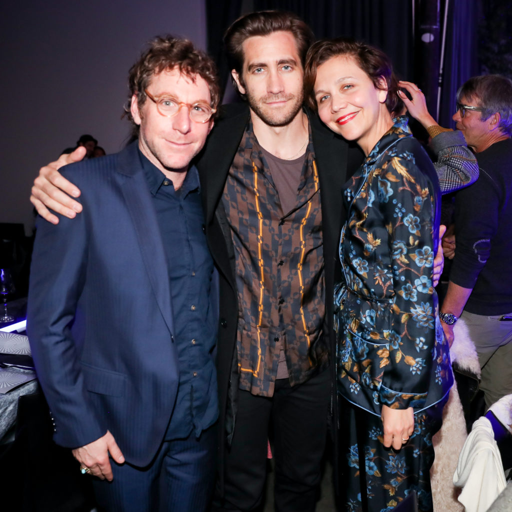 Dustin Yellin, Jake Gyllenhaal, and Maggie Gyllenhaal at the Pioneer Works Village Fete. Photo courtesy of BFA.