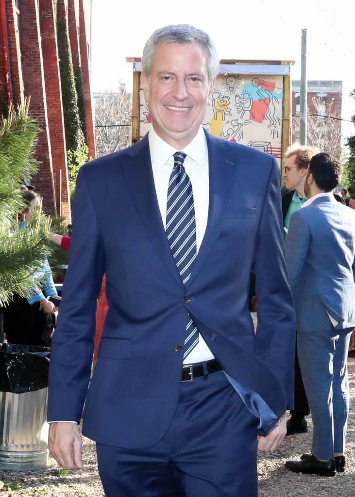 Bill de Blasio at the Pioneer Works Village Fete. Photo courtesy of BFA.