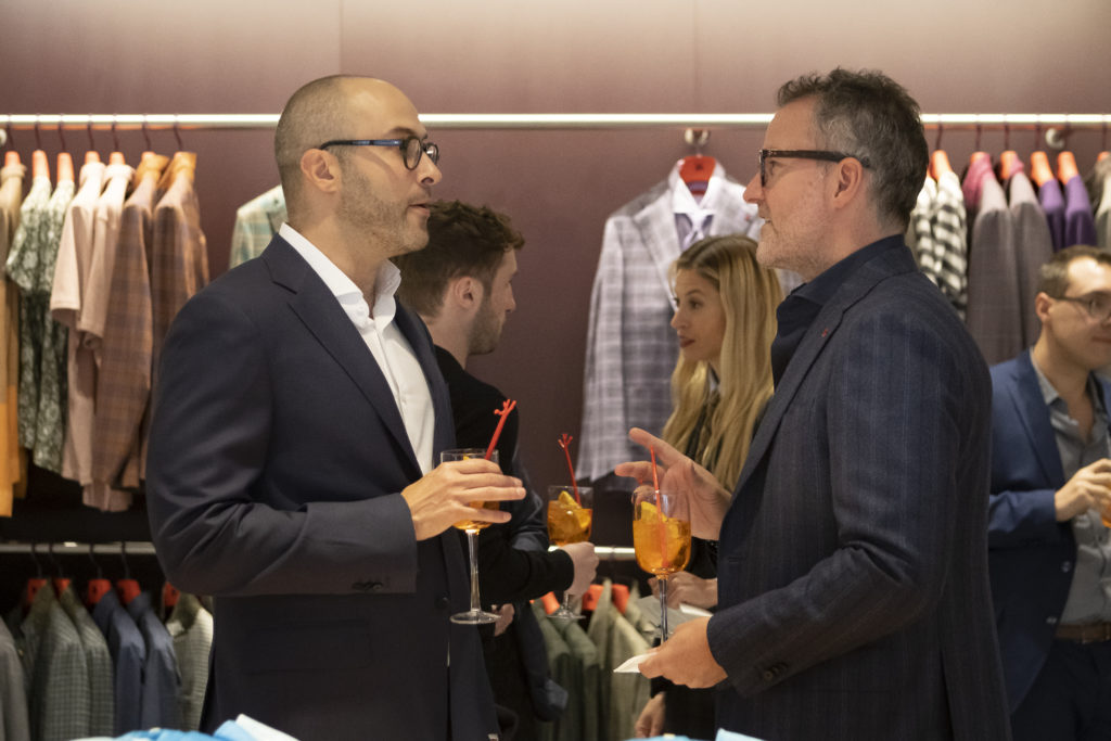 Andrew Goldstein and ISAIA President Jim Shay. Photo courtesy Scott Rudd Events.