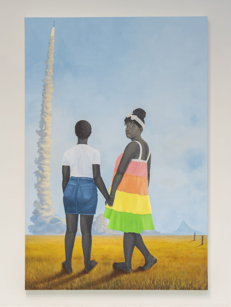 Amy Sherald's Planes, rockets, and the spaces in between (2018). Courtesy of the Baltimore Museum of Art.