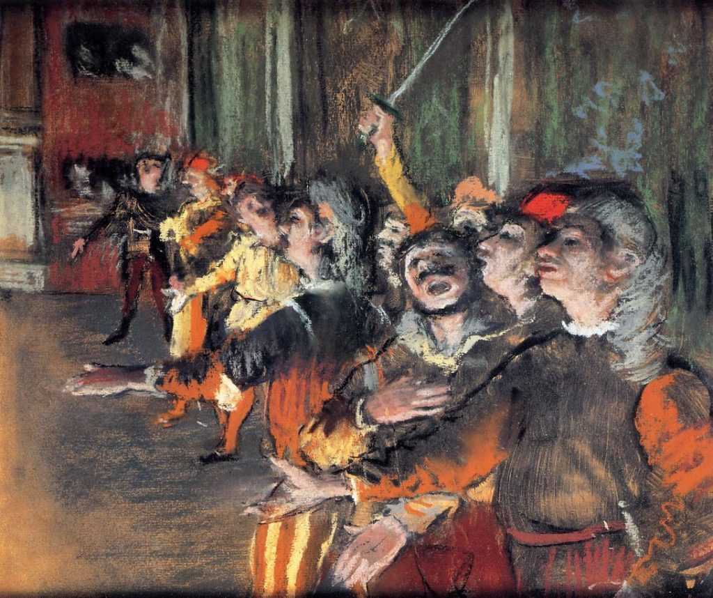 Edgar Degas, The Chorus Singer (1877). Courtesy of Wikimedia Commons.