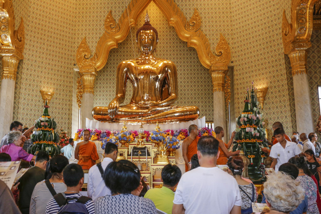 The Golden Buddha at Wat Traimit, Bangkok, Thailand. Courtesy of Isa Foltin/Getty Images.