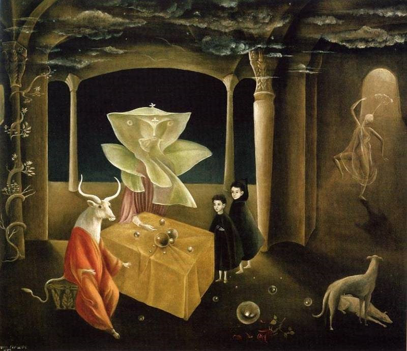 Leonora Carrington, <em>And Then We Saw the Daughter of the Minotaur</em> (1953). ©2019, Estate of Leonora Carrington/Artists Rights Society (ARS) New York.