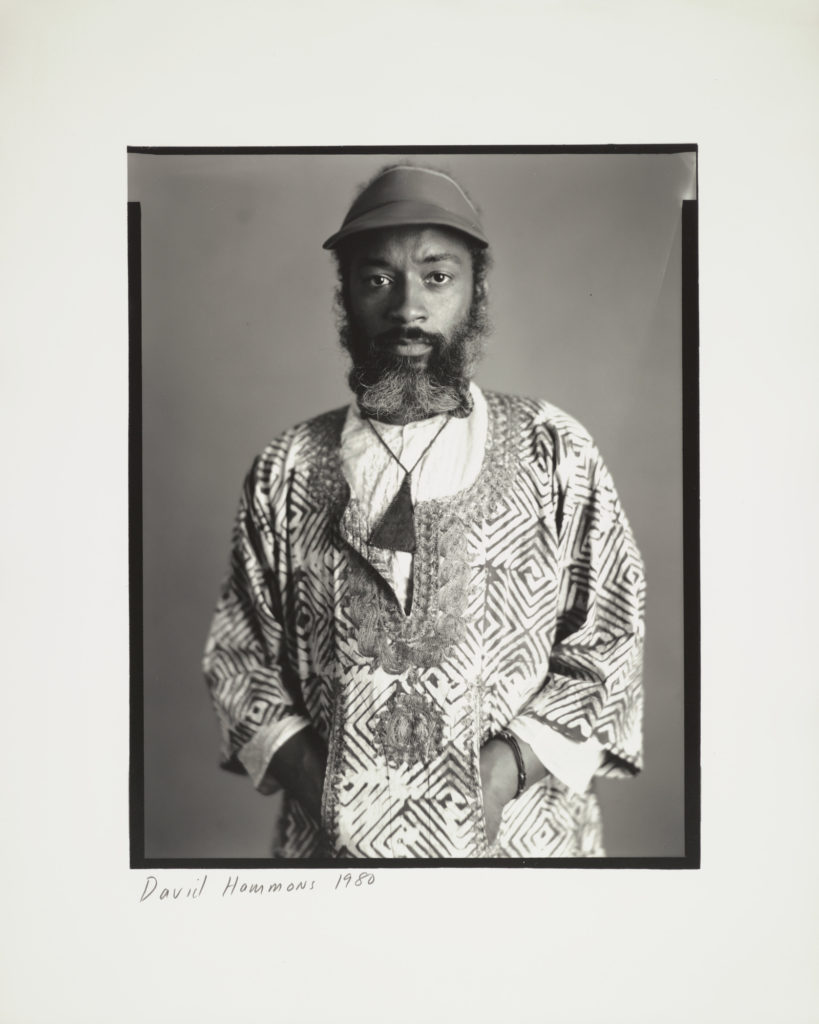 Timothy Greenfield-Sanders, <i>Photograph of David Hammons</i> (1980). © Timothy Greenfield-Sanders, courtesy the Museum of Modern Art Archives.