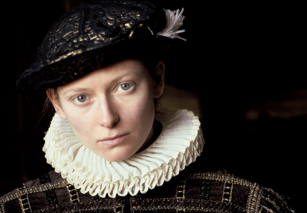 Preproduction image of Tilda Swinton made by director Sally Potter to help secure funding for the film <em>Orlando</em>, spring 1988. Photo courtesy of Aperture.