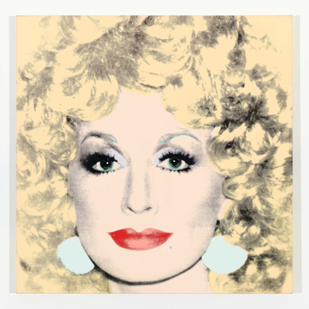 Andy Warhol, <i>Dolly Parton</i> (1985). © 2019 The Andy Warhol Foundation for the Visual Arts, Inc. Licensed by Artists Rights Society (ARS), New York. Photo: Tim Nighswander. Courtesy of Lévy Gorvy.