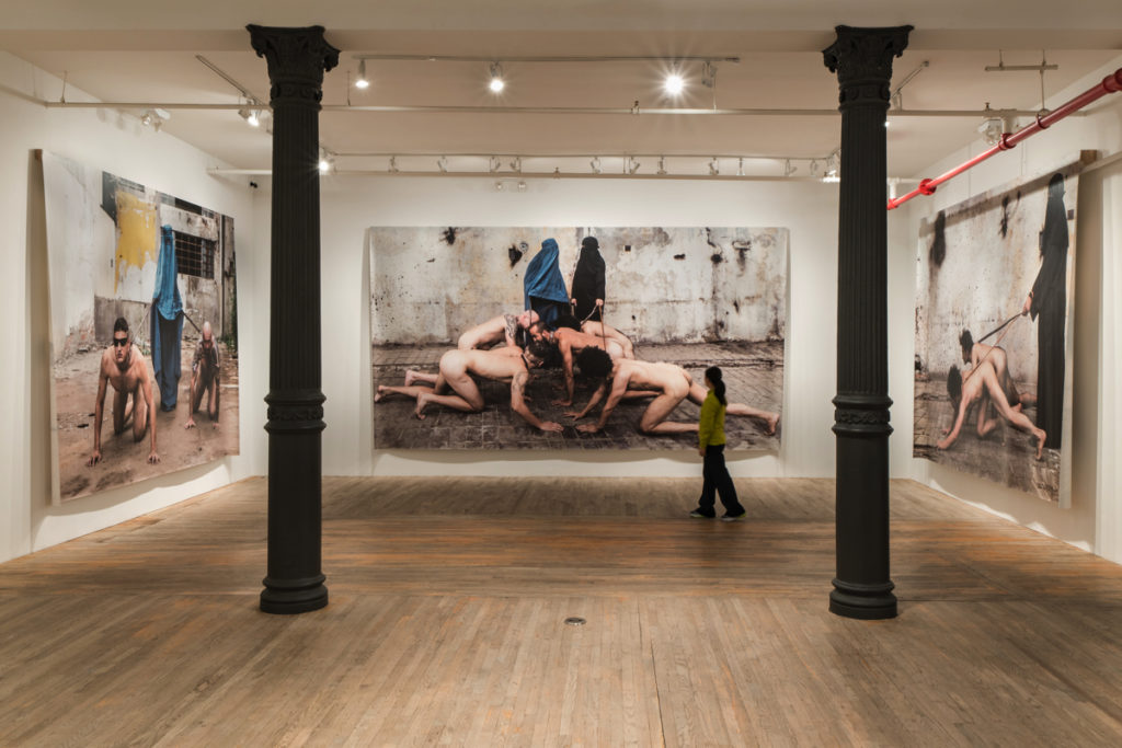 """Installation view of """"Katarzyna Kozyra: Bipeds and Quadrupeds"""" at Postmasters. Courtesy of Postmasters."""