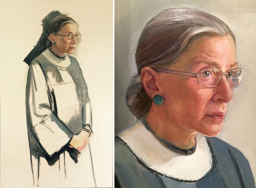 Beaty's various iterations of Ruth Bader Ginsburg. Courtesy of the artist. © Constance P. Beaty.