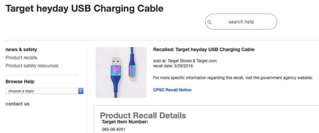 90,000 USB charging cables that can shock or catch fire