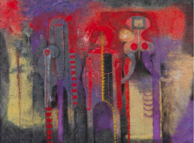 Rufino Tamayo, Tres Personajes (1970). Courtesy of Christie