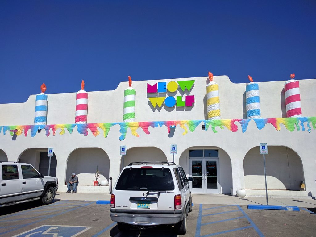 The exterior of Meow Wolf