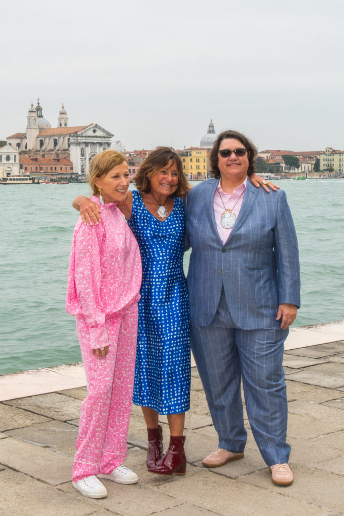 Cindy Sherman, Liz Swig and Catherine Opie at the unveiling of the LIZWORKS Cameo collection at Harry