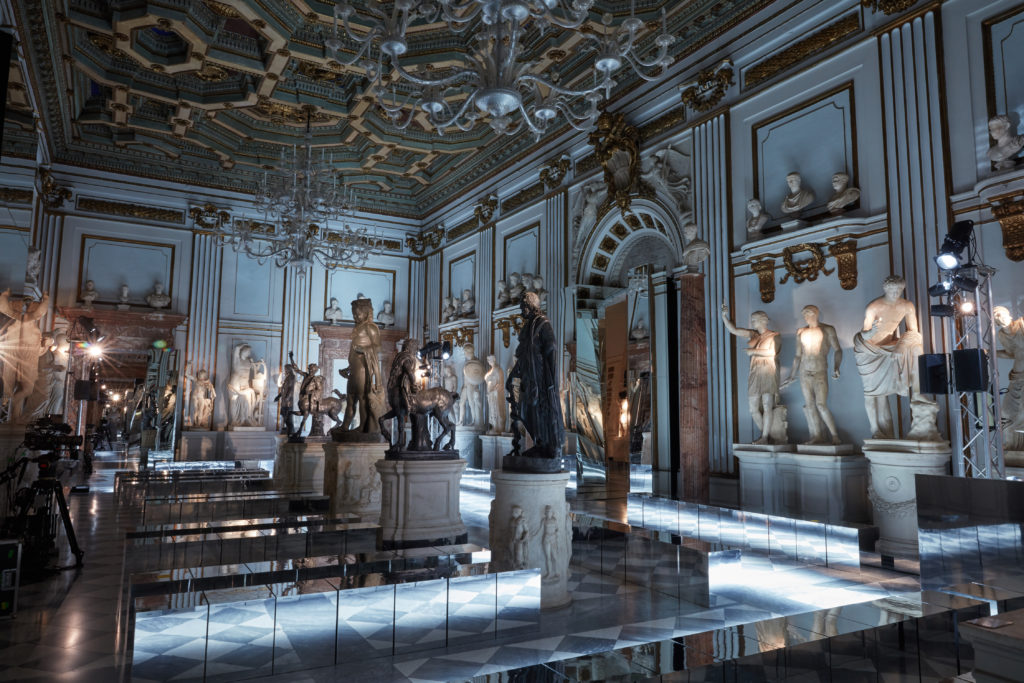 Inside the Capitoline Museums. Photo courtesy Gucci.