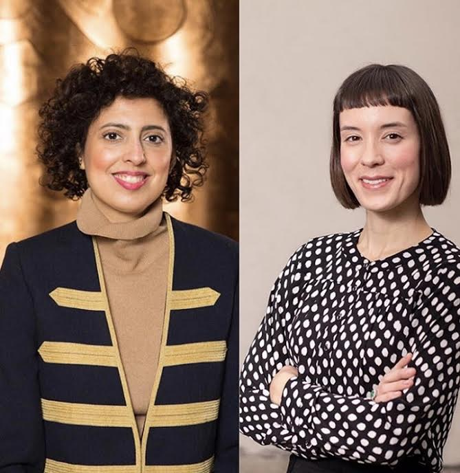 Sara Raza (left) and Ksenia Nouril (right) will sit down for a conversation about curatorial practice interacting with other displinces.