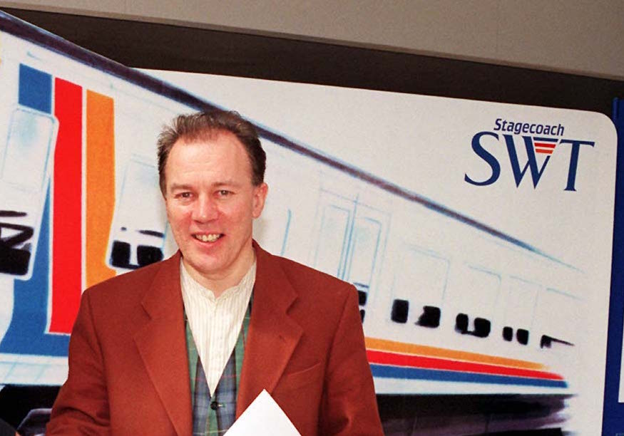 Brian Souter founder of the Stagecoach Group, in 1997. Stagecoach South East will no longer sponsor the Turner Prize over concerns about Souter