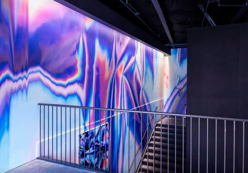 A mural on the walls of one of Facebook's offices, done by Artist in Resident Anne Vieux. Courtesy of Facebook.
