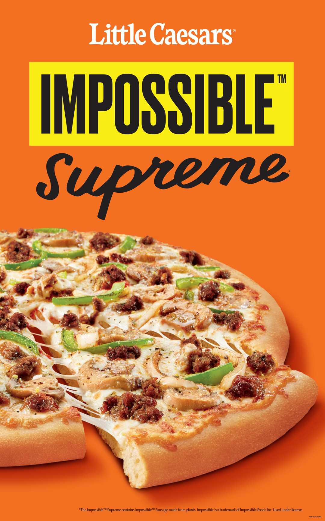 Little Caesars tests Impossible Supreme pizza with plant-based sausage