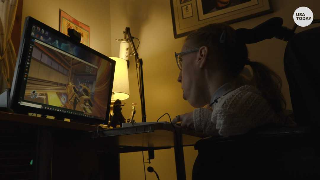 Passionate video gamers don't let their disabilities stop them