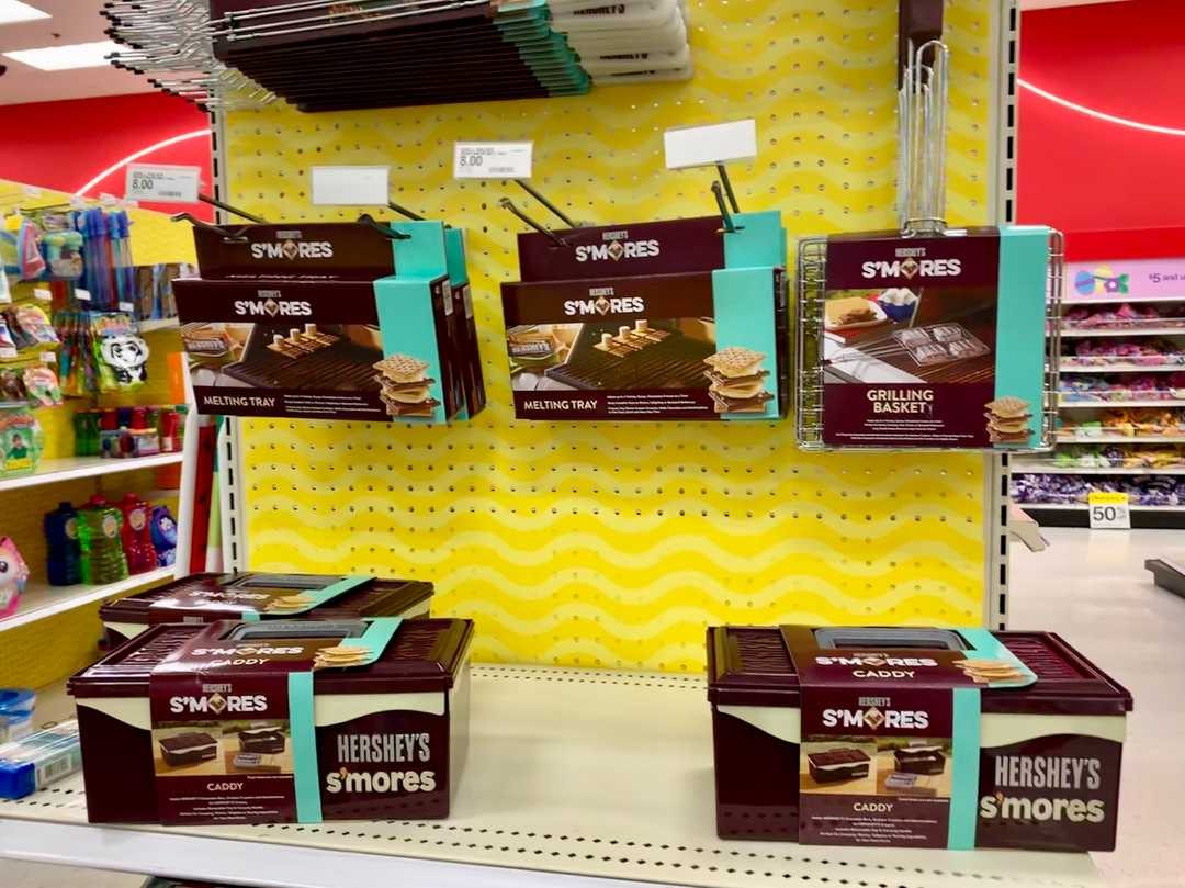 Target's Hershey's s'mores caddy organizes your ingredients in one box