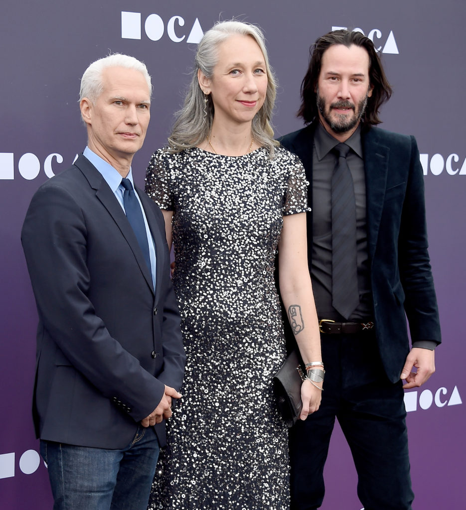 Klaus Biesenbach, a guest, and Keanu Reeves attend the MOCA Benefit 2019 at The Geffen Contemporary at MOCA on May 18, 2019 in Los Angeles, California. Photo: Gregg DeGuire/FilmMagic.