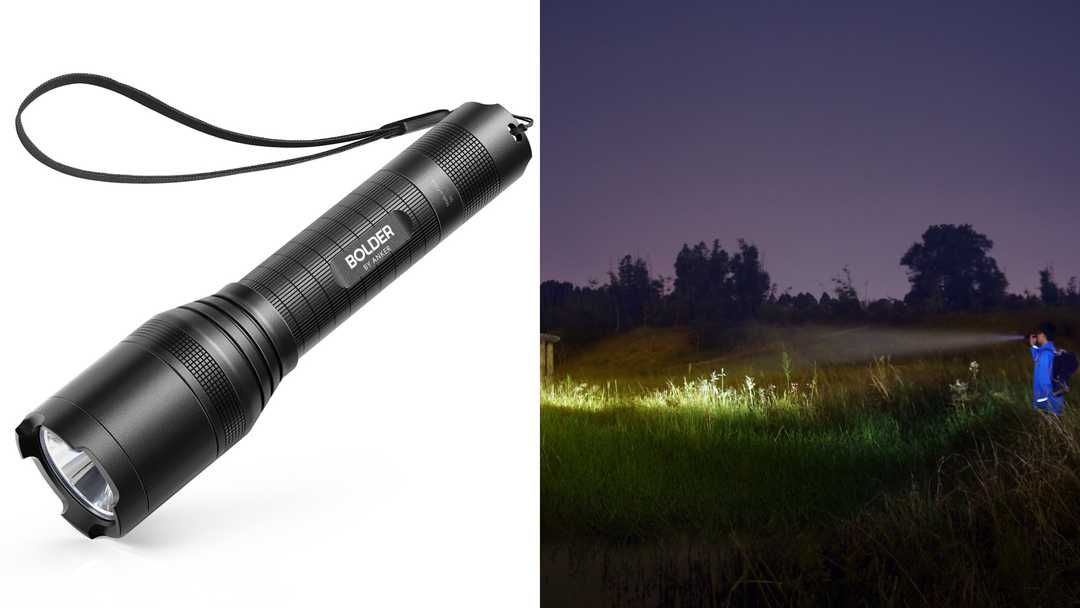 The Anker Bolder LC90 Rechargeable Flashlight is down to its lowest price