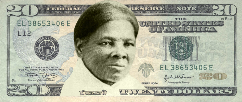 A rendering of the Harriet Tubman $20 bill. Courtesy of Women on $20s.