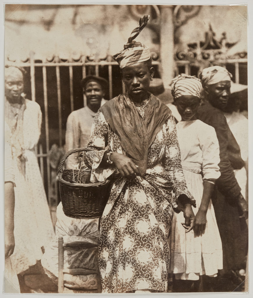 <i>At The Market, Martinique</i> (ca. 1895). Photographer Unknown. Courtesy of the Art Gallery of Ontario.