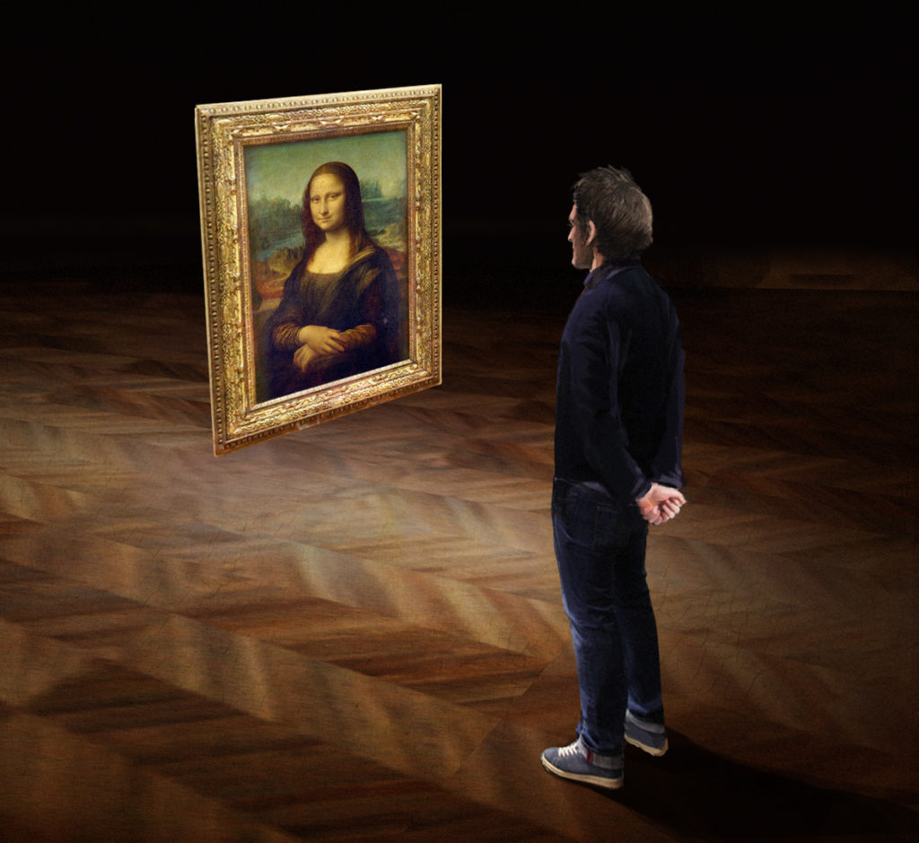 Still from <i>Mona Lisa Beyond the Glass</i> courtesy Emissive and HTC Vive Arts.