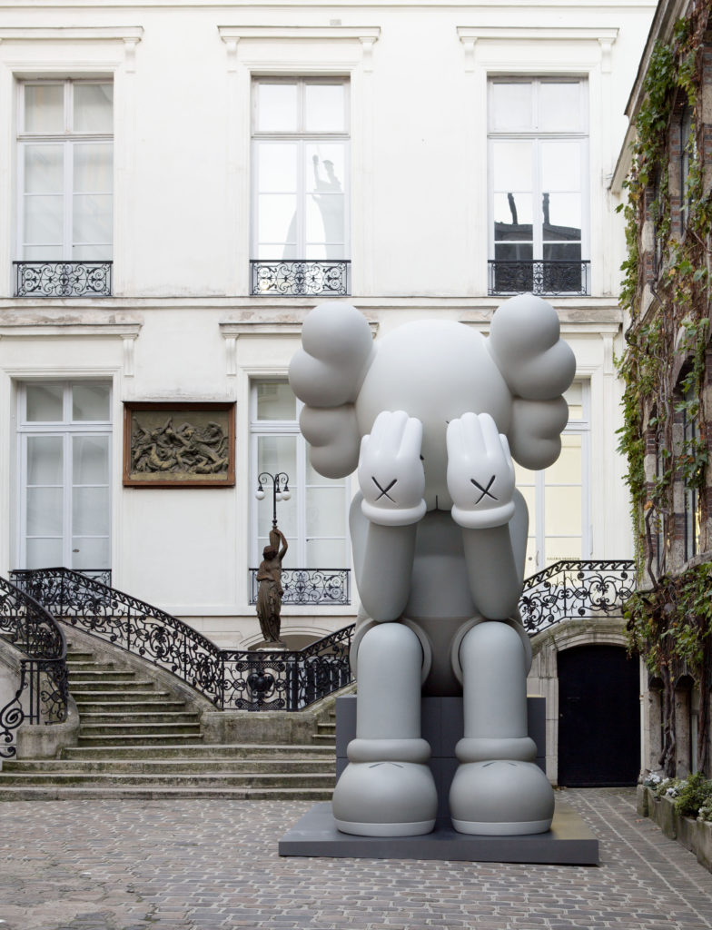 """The KAWS show """"Imaginary Friends"""" at Perrotin in Paris in 2012. Courtesy of Perrotin Gallery."""