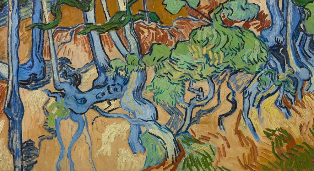 Vincent Van Gogh, <i>Tree Roots</i> (1890). Image courtesy of the Van Gogh Museum, Amsterdam and the Vincent Van Gogh Foundation.