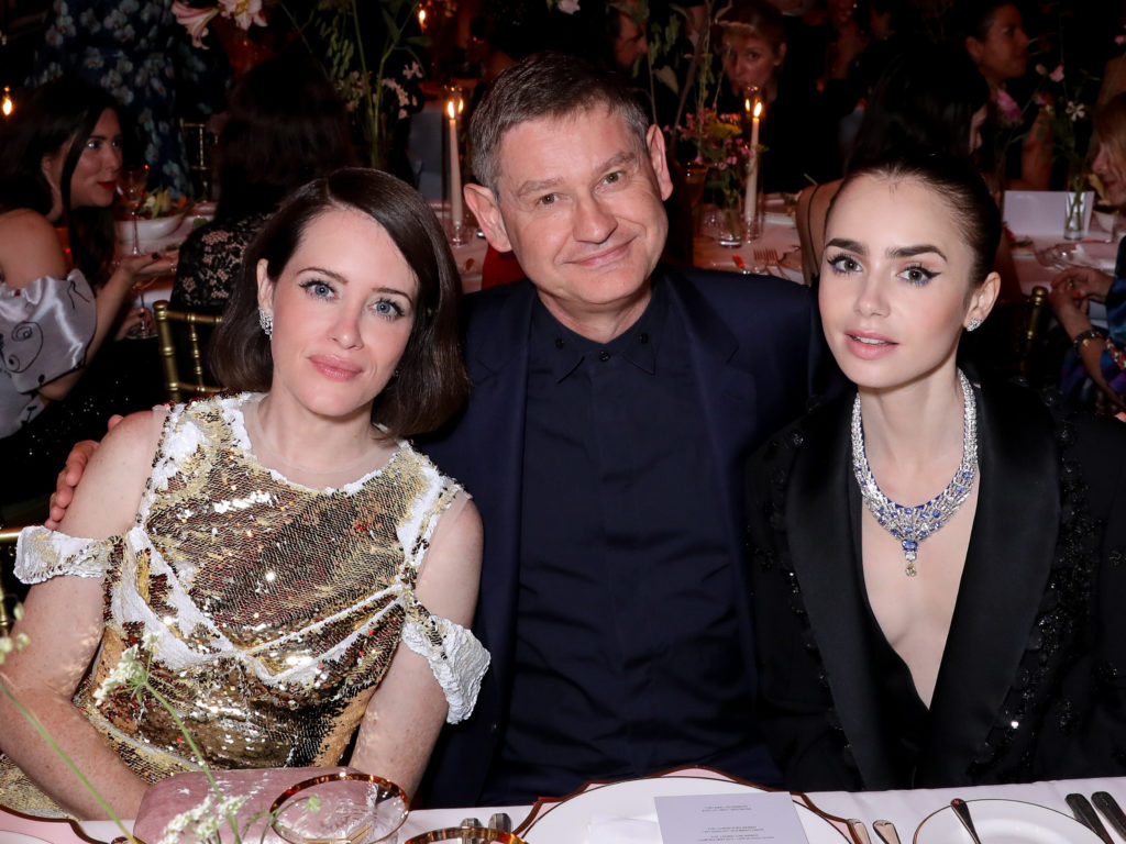 Claire Foy, and Cyrille Vigneron at the dinner for Cartier Magnitude. Photo courtesy François Goizé.