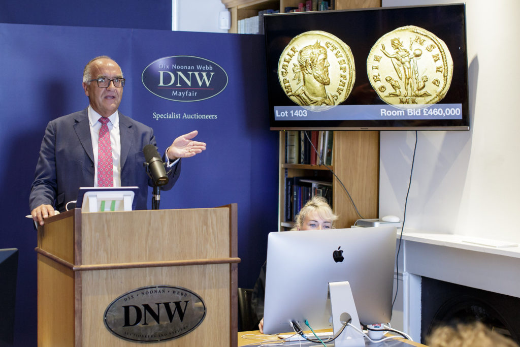 Christopher Webb, Director of DNW's Coin Department. Courtesy of the DNW.