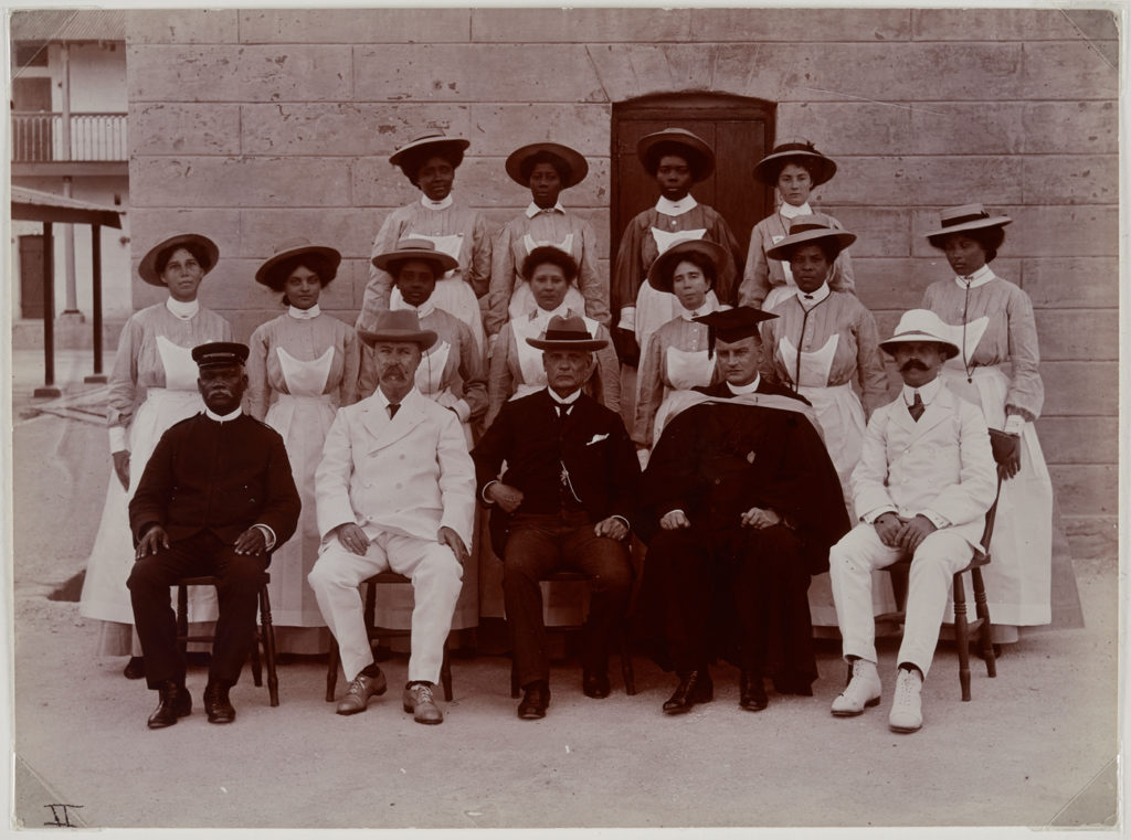 <i>Glendairy Prison Officials, Barbados</i> (1909). Photographer Unknown. Courtesy of the Art Gallery of Ontario.