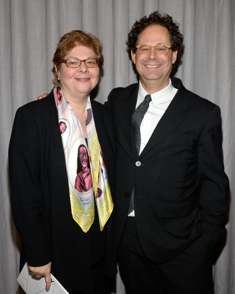 Donna De Salvo with Whitney director Adam Weinberg at press preview for the 2014 Whitney Biennial. Photo: Ben Gabbe/Getty Images.