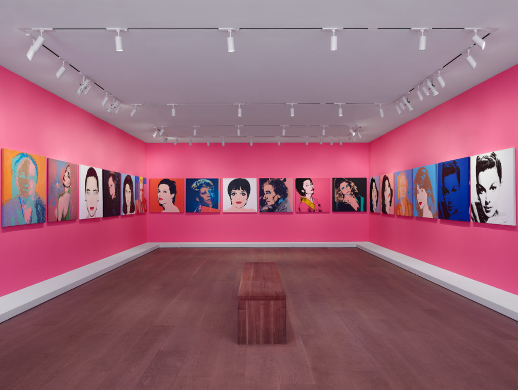 Warhol Women, Installation view, Lévy Gorvy, New York, 2019. Photo: Farzad Owrang. Installation view of Andy Warhol. <i>40 Jackies</i>, 1964. © 2019 The Andy Warhol Foundation for the Visual Arts, Inc. / Licensed by Artists Rights Society (ARS), New York. Source images for 40 Jackies include photograph by Henri Dauman, 1963 (lower left, and repeated throughout).