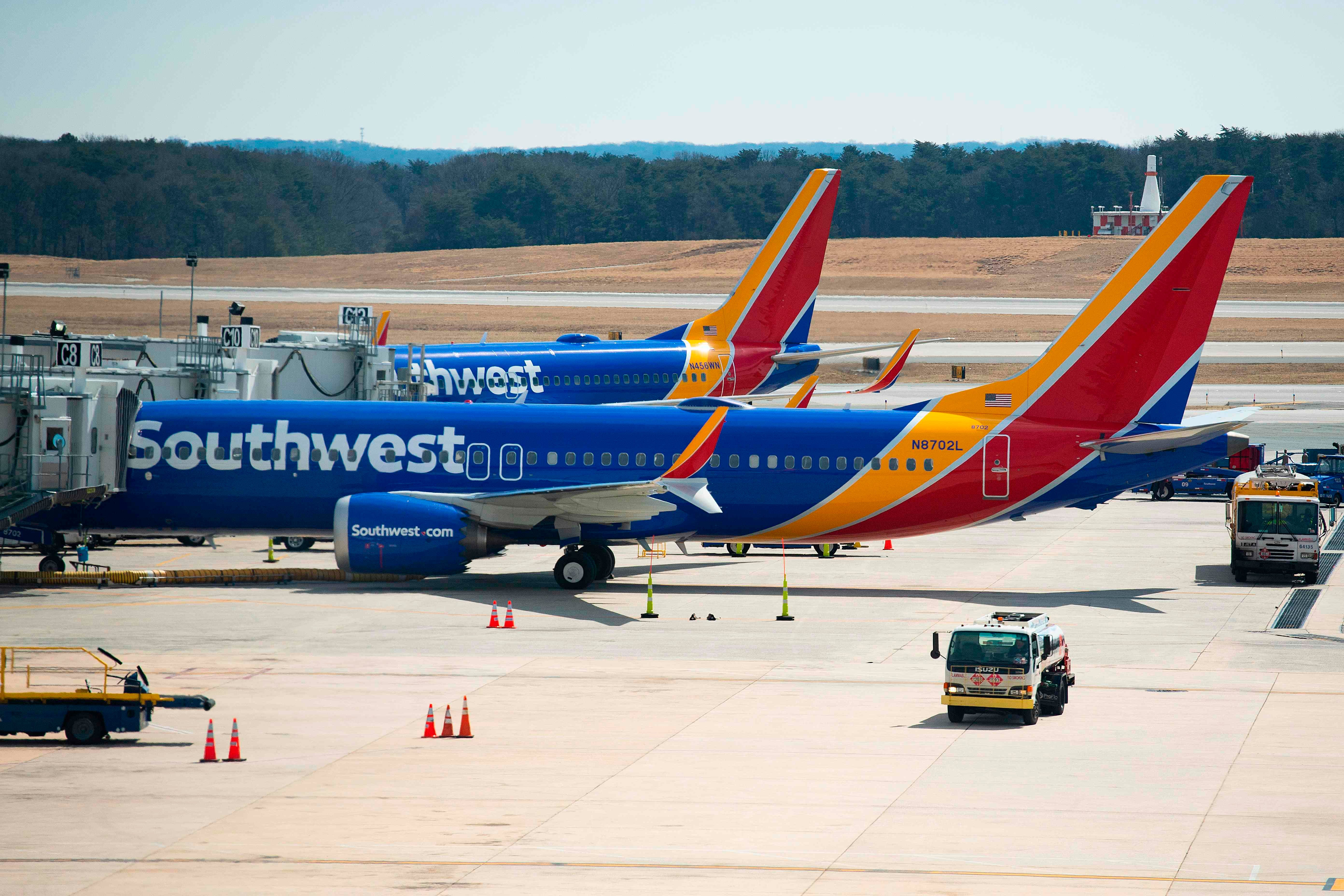 Grounded Boeing 737 Max planes are taking over the employee lot