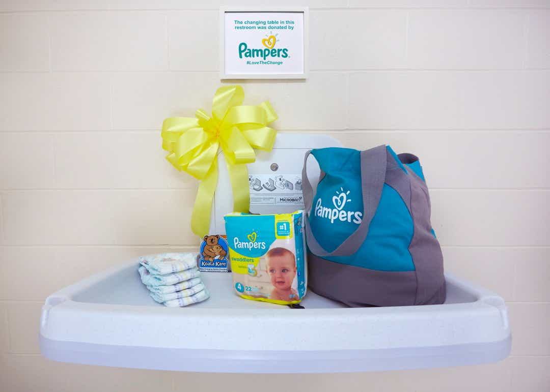 Pampers to install 5,000 diaper changing stations in men's restrooms