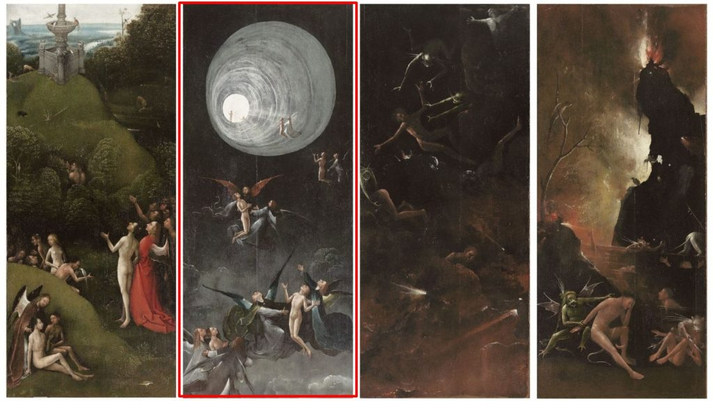 Hieronymus Bosch, <i>The Flight from Heaven</i> from <i>Visions of the Afterlife</i> (1490-1523). Courtesy of Google Arts & Culture.
