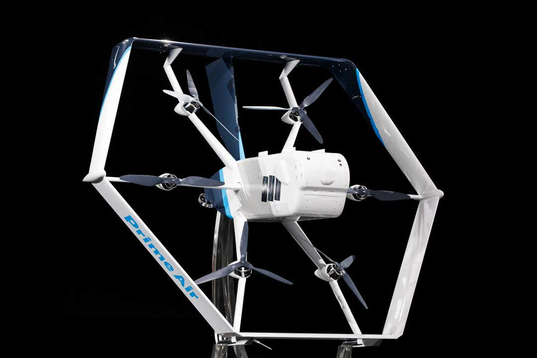 Shopping giant unveils new Prime Air drone