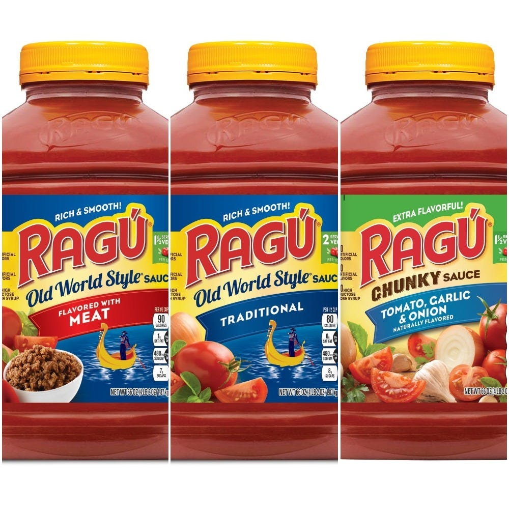 Some pasta sauces may contain plastic fragments