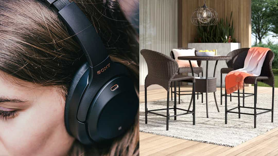 Sony headphones, Wayfair outdoors, nugget ice makers, and more