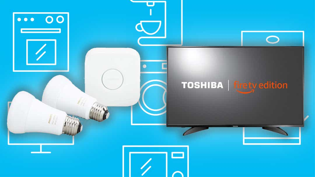 The best deals right now are Fire TVs and Philip smart lights