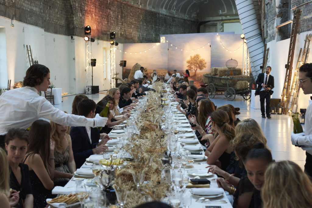 Chanel's dinner to celebrate the launch of the new jewelry collection. Courtesy of Chanel.