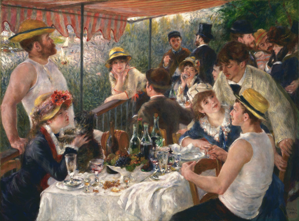 Pierre-Auguste Renoir, Luncheon of the Boating Party (1880-1881). Courtesy of the Phillips Collection, DC.