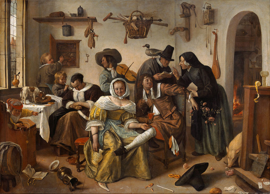 Jan Steen, Beware of Luxury (ca. 1663). Courtesy of Google Arts & Culture.