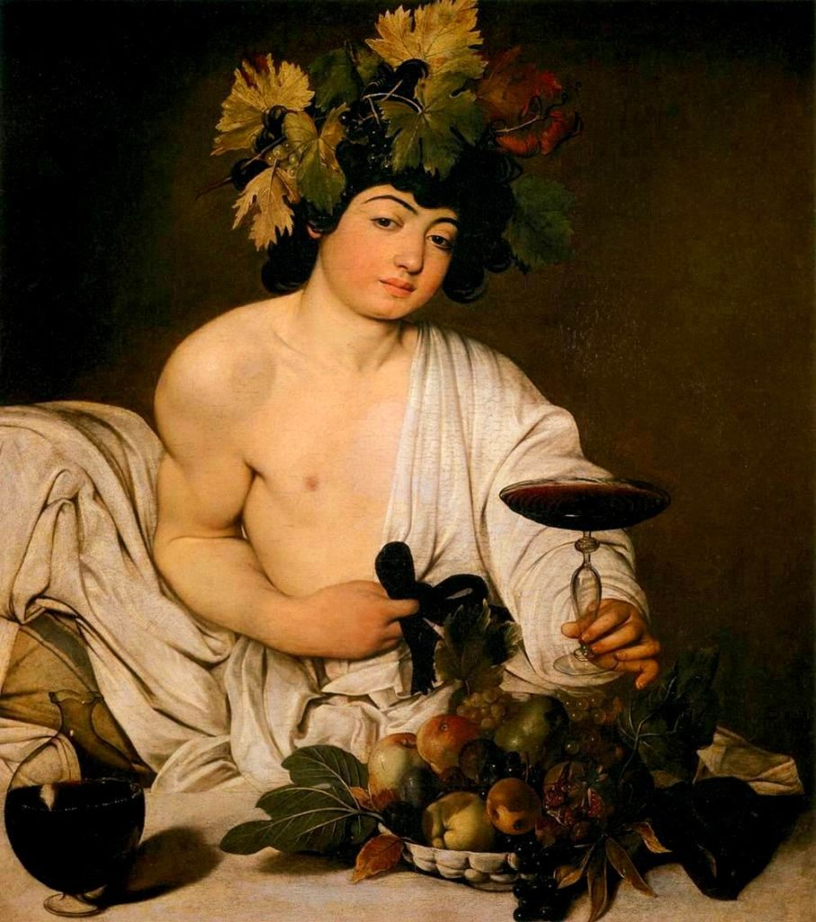 Michelangelo Merisi da Caravaggio, Bacchus (1589). Courtesy of the Galleria degli Uffizi, Florence.