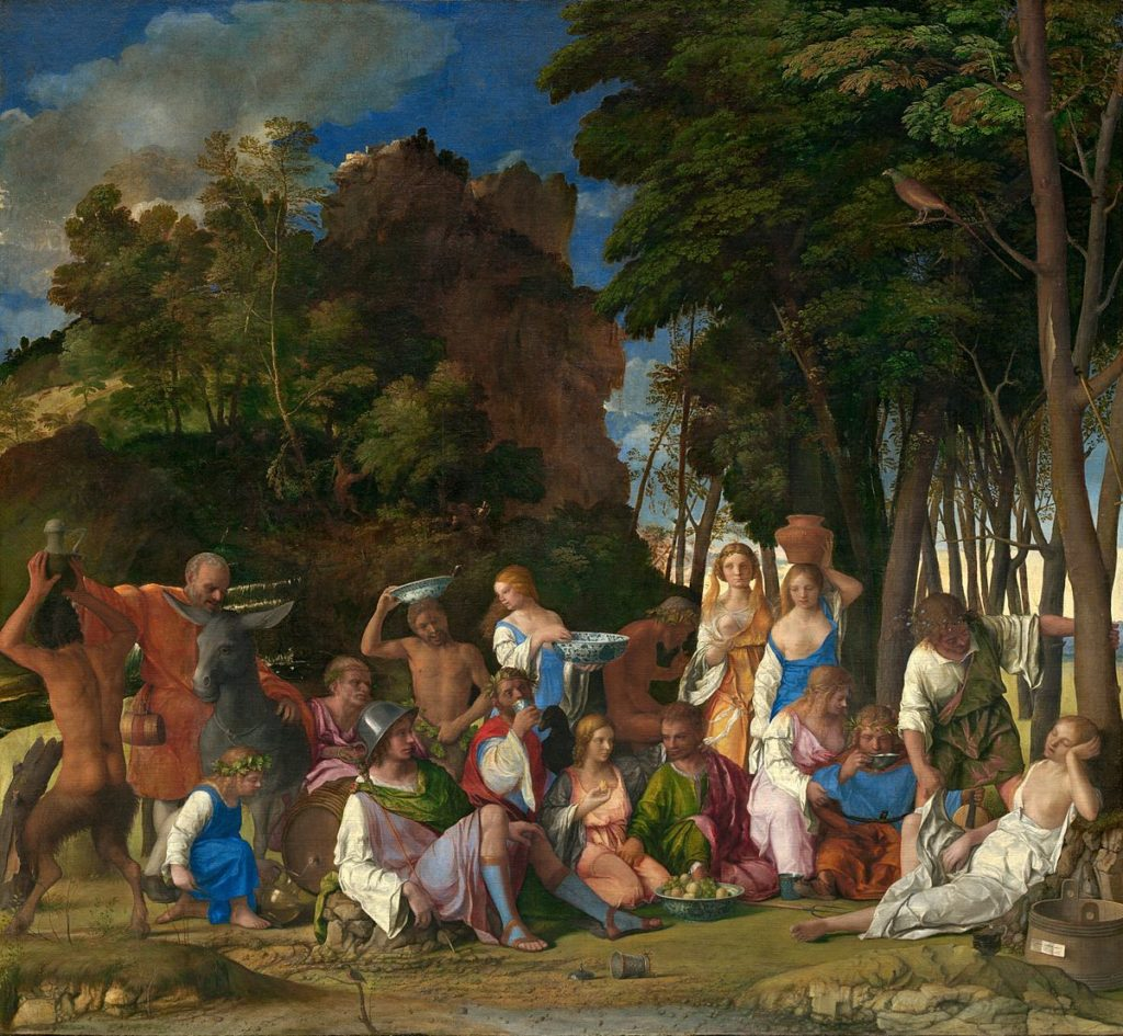 Giovanni Bellini and Titian, Feast of the Gods (1514/29). Courtesy of the National Gallery of Art, Washington, DC.