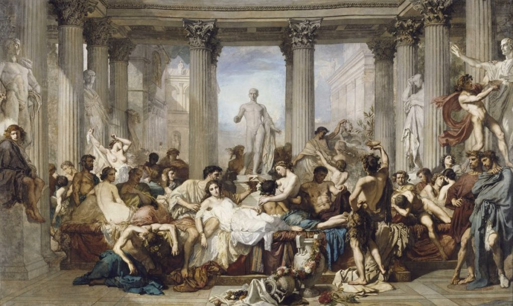 Thomas Couture, Romans During the Decadence (1847). Courtesy of the Musee D'Orsay.